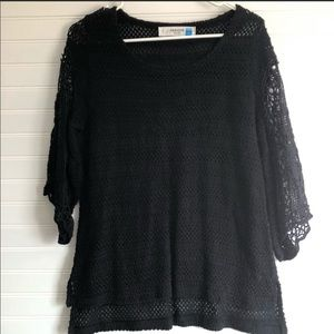 Anthropologie Sparrow black knit sweater